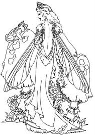 photos free printable fairy coloring pages drawing art
