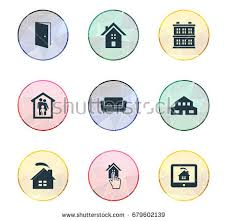 Synonyms Comfort Vector Illustration Set Simple Real Icons Stock Vector 675572662