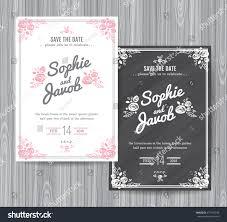 House Invitation Card Wedding Invitation Vintage Card Wedding Invitation Stock Vector