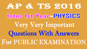 physics 1st year ipe very very important questions with answers