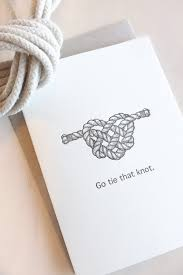 wedding card engagement card go tie that knot nautical