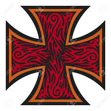 cros tattoo iron cross tattoo style tribal style royalty free cliparts