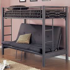 Metal TwinFuton Bunk Bed Matte Black Textured Sams Club - Futon bunk bed