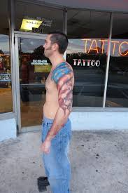 american flag sleeve tattoo style for guys in 2017 real photo