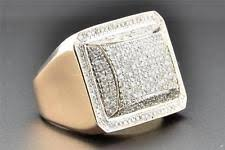 diamond ring for men design diamond gold 10k rings for men ebay