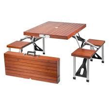 Wood Patio Furniture Home Depot - leisure season portable patio folding picnic table pft12 the