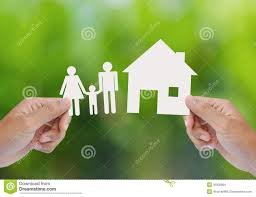 hand hold house and family stock images image 35002884