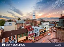 Maryland scenery images Annapolis maryland usa downtown view over main street with the jpg