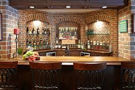 basement bar ideas with brick images information about home