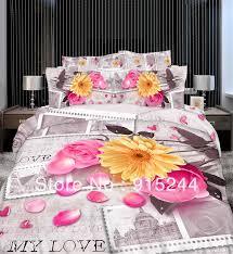 Duvet Quilt Cover Aliexpress Com Buy White Ruffle Wedding Lace Cotton Bedding 4pcs
