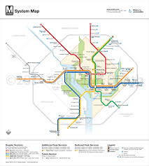 Metro Maps Unofficial Map Washington Dc Metro Map With Transit Maps