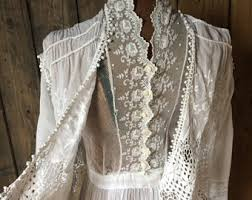 vintage wedding dress etsy