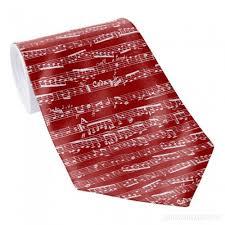 imagenes de notas rojas rojas de la música corbata 7596t932