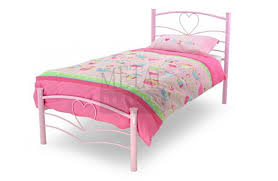 metal beds love 3ft 90cm single pink bed frame by metal beds ltd