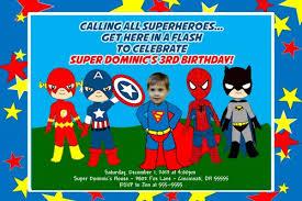super hero squad birthday invitation super heroes add photo