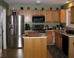 Best Kitchen Colors With Oak Cabinets Black And White Kitchen Remodel With Painted Cabinets