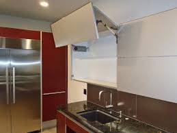 Kitchen Cabinet Lift Lift Up Doors Automatic Or Manual Contemporary Kitchen