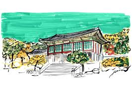 new style modern house drawing sketch with color in korea u2013 modern