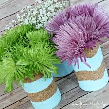 Tin Flower Vases Painted Cork Tin Can Vases View From The Fridgeview From The Fridge