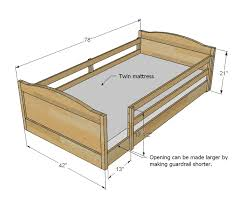 Wood Futon Bunk Bed Plans by Ana White Chelsea Top Bunk Diy Projects