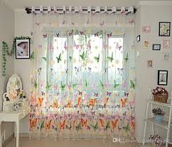 Balloon Curtains For Kitchen by Butterfly Kitchen Curtains Tulle For Balcony Panel Screen Sheer
