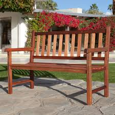 Acacia Wood Outdoor Furniture Durability by Outdoor Traditional 4 Foot Garden Bench In Durable Red Shorea Wood