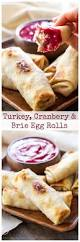thanksgiving sauce turkey cranberry and brie egg rolls recipe runner