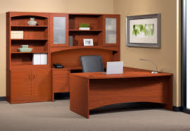 U Shaped Desks With Hutch Mayline Furniture Bt7 Brighton U Desk With Hutch And Storage Cabinet