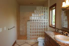 catchy glass block bathroom ideas with glass block designs for