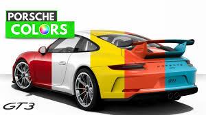 porsche gt3 colors 2018 porsche 911 gt3 colors