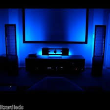 blue home theater led lighting kit 6 led strips