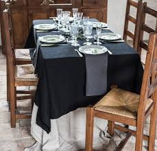 linen tablecloth rough linen classic natural tablecloth 100 linen rough linen dining eat tableware decoration orkney tablecloth black and