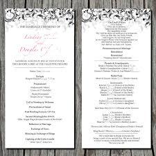 wedding ceremony program simple wedding ceremony program via etsy s