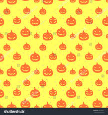 halloween repeating background patterns halloween seamless pattern pumpkin perfect wrapping stock vector