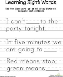 sight word sentences worksheets free worksheets library download