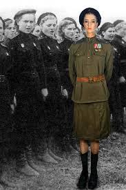 ussr m43 vvs lieutentant female service dress uniform