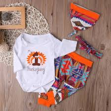 thanksgiving baby clothes set romper hat headband