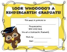 preschool graduation certificate kindergarten graduation certificate owl themed by burdick
