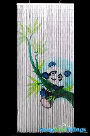 Painted Bamboo Curtains Shopwildthings Painted Bamboo Beaded Curtains And Door