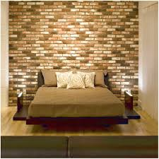 interior stone wall textures ideas for bedroom decor which has a