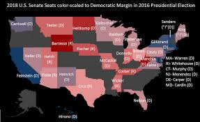 Midterm Election Map by The 2018 Senate Map Puts Senator Schumer U0027s Filibuster Threat To