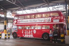 double decker party bus afternoon tea on an iconic red double decker bus around london