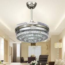colorled 3 circle diamond crystal ceiling fans with lights