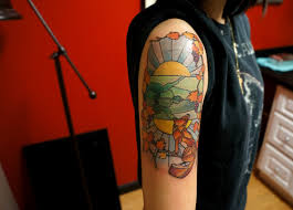 color ink stained glass tattoos in 2017 real photo pictures