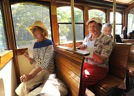 glass town trolley takes off in sandwich news capecodtimes com