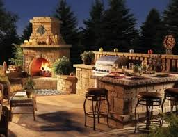 Best Outdoor Kitchens Images On Pinterest Barbecue Grill - Backyard kitchen design