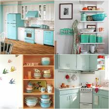 comfy vintage kitchen in blue design and accessories getting old