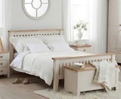buy the camden ash and cream double size bed frame at oak