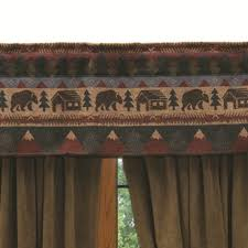 Cabin Valances Shop Wooded River Cabin Bear Bedspread Sets The Home Decorating