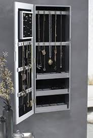 Jewelry Cabinets Wall Mounted by Belham Living Hollywood Mirrored Locking Wall Mount Jewelry